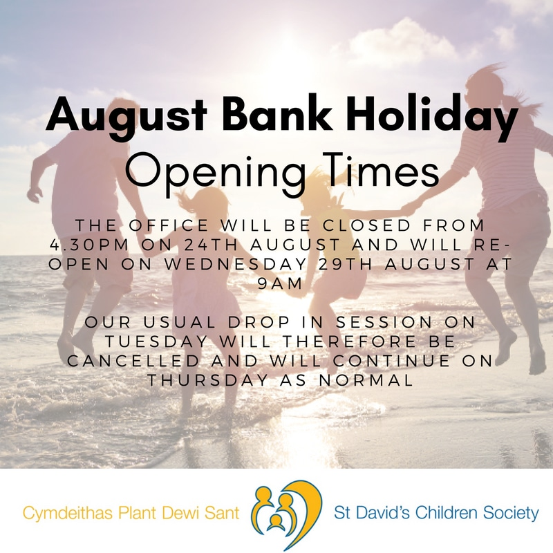 August Bank Holiday Opening Times